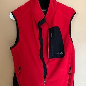 Eddie Bauer Ladies Vest Red Size Small